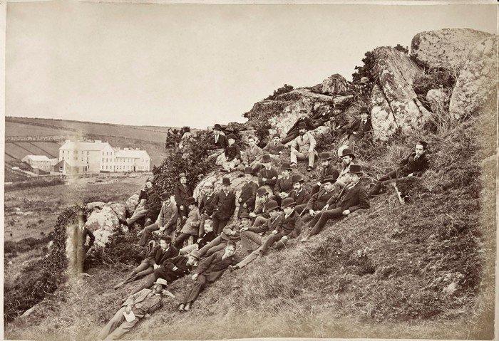 Billedet viser en bjergside