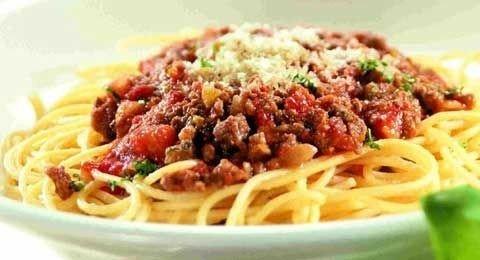 Billede af pasta med kødsovs