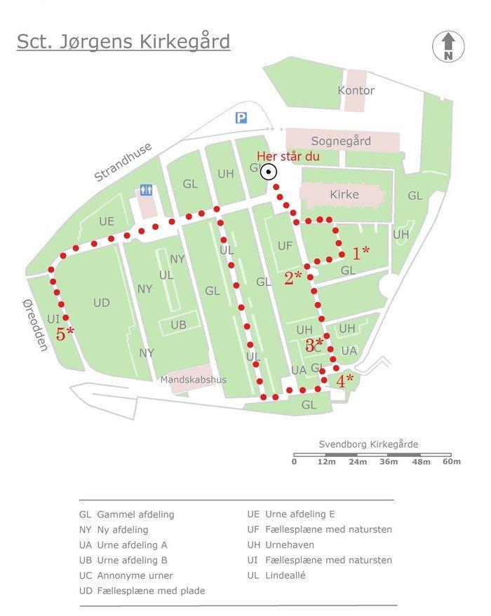 Oversigtskort over kirkegård