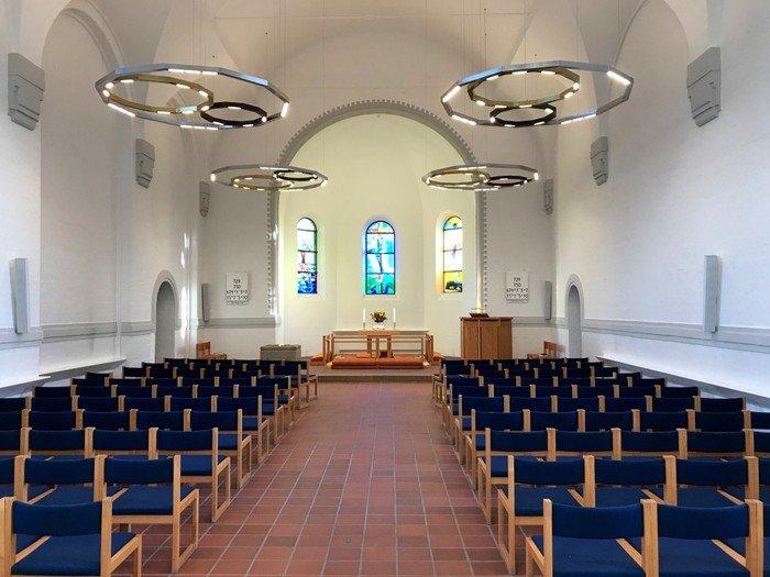 Billede af Vanløse Kirkerum før ændringerne i 2019