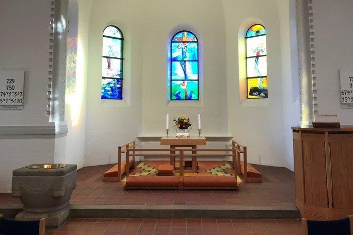 Korbuen før istandsættelsen i 2019 - Vanløse Kirke