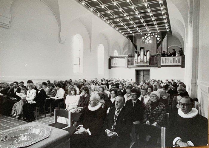 Det nye kirkerum i Vanløse Kirke 1984