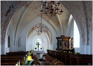 Kirkens kalkmalerier fortæller historie