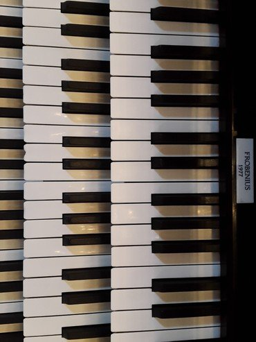 Billede af orgel tangenterne
