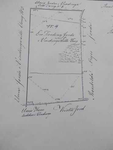 """Moesgårds """"fjerding jord"""" (23 tdr. land) i Vindinge Lillevang."""