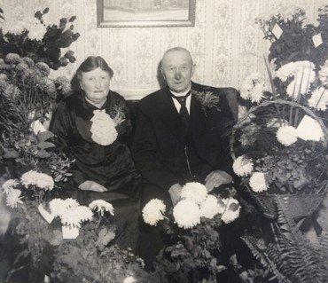 Karoline og Vilhelm Wullfs guldbryllup 3. november 1944.