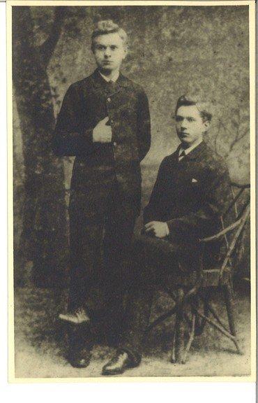 Søren Borks sønner Hans og Andres Bork 1886-1900