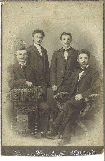 Søren Borks 4 sønner Hans, Holger, Anders og Peter 1898-1902