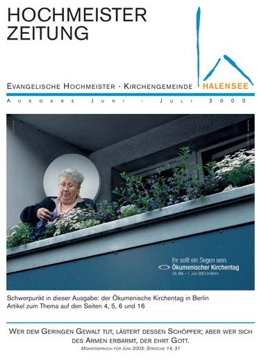 Hochmeisterzeitung 06 2003