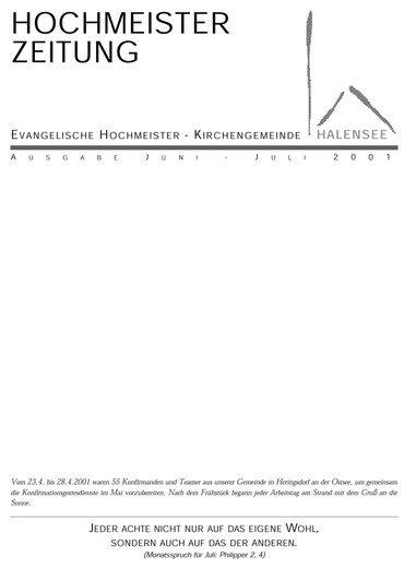 Hochmeisterzeitung 06 2001