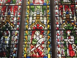 Part of the Singers Window - Stained Glass at St Mark's Church