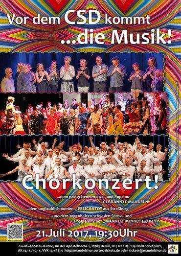 Plakat Chorkonzert Gebrannte Mandeln