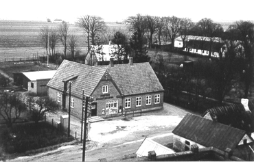 Udsigten fra kirtårnet i Vindinge kirke 1930-1940