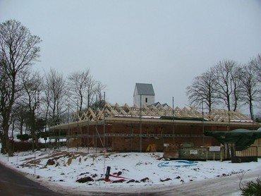 Kirkehuset bygges