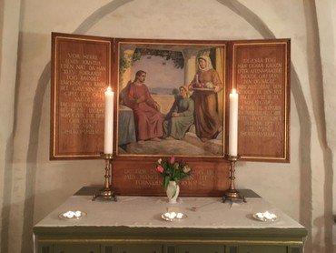 Altertavle i Fræer Kirke