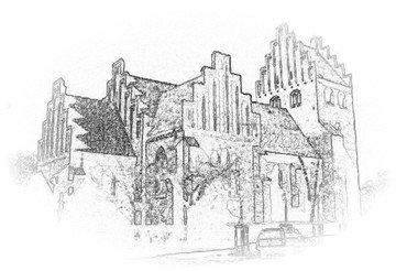 Ilustration af kirken