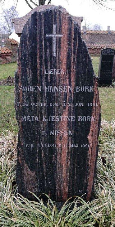 Søren Borks gravsten
