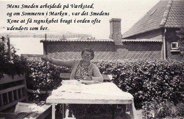Smedens kone Agnes lavede regnskab