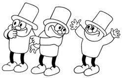 """Illustration """"3 små mænd"""""""
