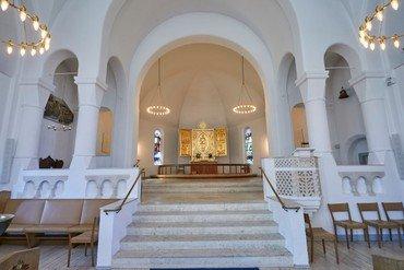 Kirken set indefra