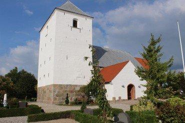 Kirketårnet i Vorning Kirke
