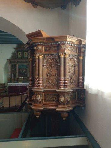 Prædikestolen i Vorning Kirke