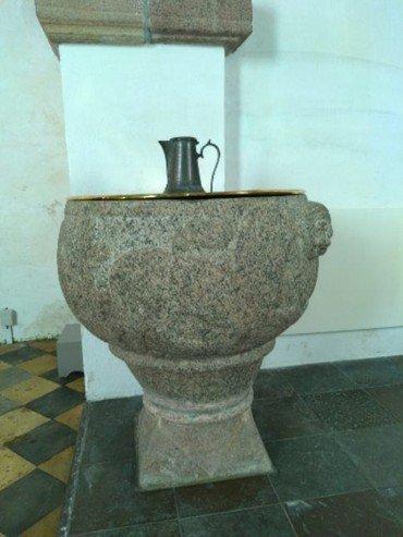 Døbefonten i Hammershøj Kirke