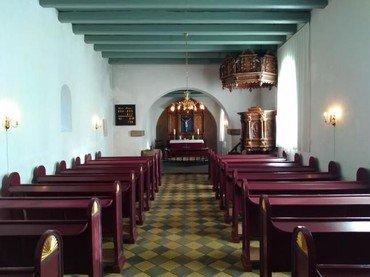 Indvendig i Hammershøj Kirke