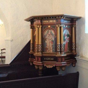 Prædikestolen i Kvorning Kirke