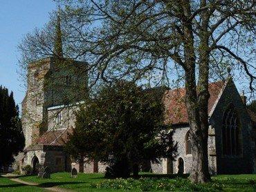 churchyard in early spring
