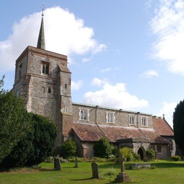wide angle photo of St Leonard's from the South