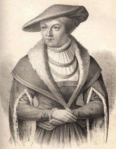 Kurfürstin Elisabeth in der Tracht einer Lutheranerin