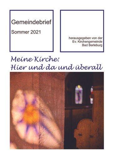 Titelseite Gemeindebrief Sommer 2021