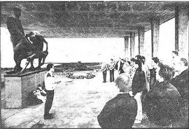 Kranzniederlegung am 6. Mai 1989