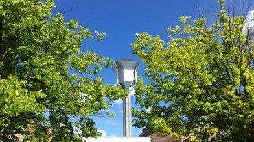 Foto af kirketårnet