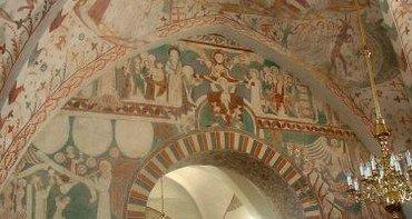 Kalkmalerier i Keldby Kirke | Keldby-Elmelunde Pastorat