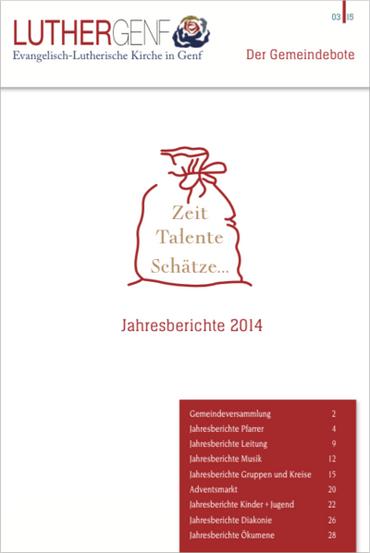 Jahresberichte 2014