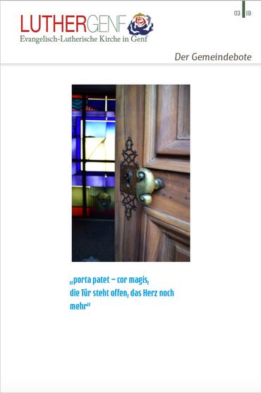 Gemeindebote Thema offene Türen
