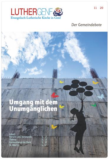 Gemeindebote der Lutherischen Kirche in Genf, November 2020