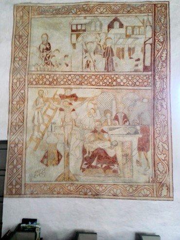 Størstedelen af kalkmalerierne er fra reformationens indførelsestid 1530-40