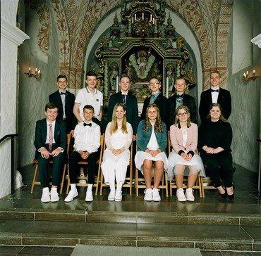 Konfirmander, Auning kirke søndag den 12. maj 2019 kl. 11.00