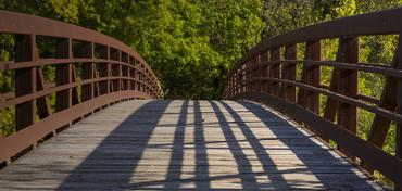 a wide footbridge