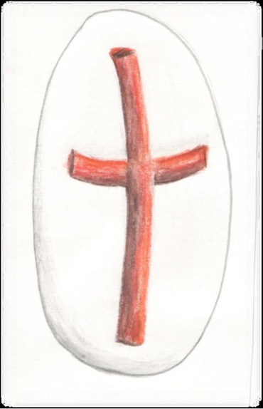 stone with cross