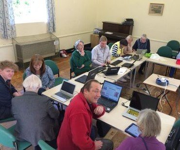 Hub cafe, computer session