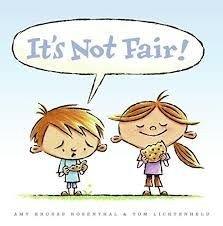 cartoon children saying not fair