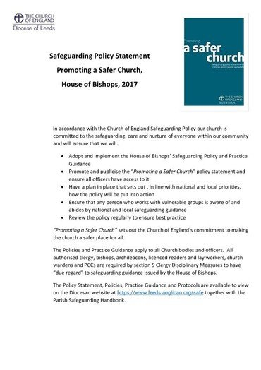 safeguarding policy page 1