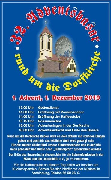 Adventsbasar an der Dorfkirche Rudow