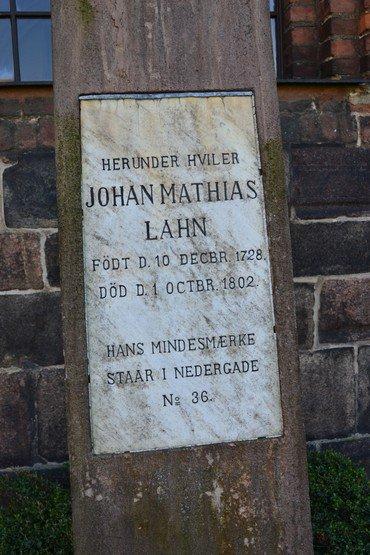 Gravsted Johan Mathias Lahn