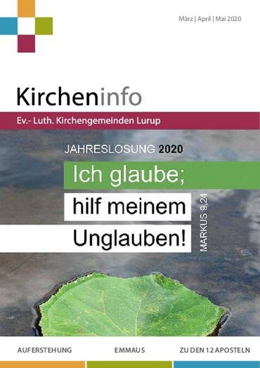 Kircheninfo März bis Mai 2020