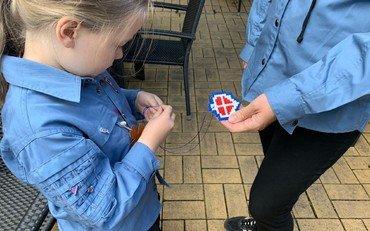 FDF spejder i uniform